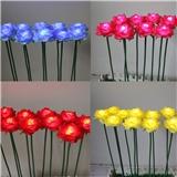 厂家直销插地花灯 LED郁金香灯 LED玫瑰花 LED向日葵 LED白百合花灯