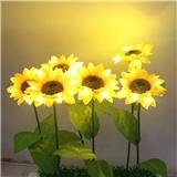 工厂直销 LED花灯 玫瑰花灯 百合花灯 康乃馨灯 向日葵插地灯 地插灯蒲公英