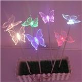 LED蝴蝶灯工厂直销 LED花灯 玫瑰花灯 百合花灯 康乃馨灯 向日葵插地灯 地插灯蒲公英