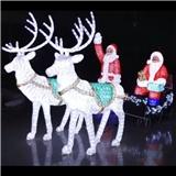 厂家直销led造型灯 圣诞美陈装饰灯具 3D鹿拉车造型 中山专业生产订制