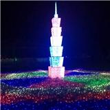 立体铁塔造型灯 灯光节彩灯 101塔造型灯 3D立体造型灯 厂家直销质保两年