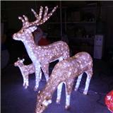 梦幻灯光节 三只梅花鹿造型灯 圣诞美称驯鹿 3D小鹿灯户外防雨 厂家直销 质保两年