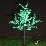 厂家批发LED铁杆樱花树灯高度1.5米绿色粉色户外防水公园工程发光景观