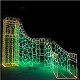 梦幻灯光节LED立体造型灯 广场活动展览灯具 厂家定制 户外防雨 长城形状灯