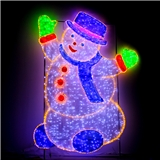 圣诞节雪人造型灯梦幻灯光节LED立体造型灯广场活动展览灯具 厂家定制 户外防雨