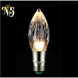 厂家供应 简约时尚K9水晶尖形灯泡 节能环保水晶光源可加工定制