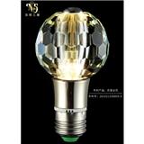 厂家定制 现代时尚个性水晶灯泡 蜂窝创意水晶光源 水晶灯led灯泡