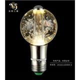 厂家定制 北欧简约吊灯水晶光源 创意节能圆形 led灯泡