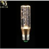 专业生产 个性时尚K9水晶圆柱汽泡灯泡 厂家批发节能环保水晶光源