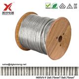 H05VV-F 2x0.75mm2 3x0.75mm2 2c/3c PVC AC圆线电线