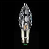 LED水晶尖形灯泡 节能环保水晶光源