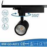 全压铸铝高档LED道轨灯 三线导轨灯 科锐COB 服装连锁店热卖