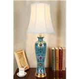 美式台灯卧室床头灯客厅新中式欧式简约样板房景德镇陶瓷全铜台灯