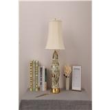 卧室床头柜灯新中式美式田园欧式全铜布艺客厅大号景德镇陶瓷台灯