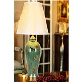 客厅台灯卧室床头灯美式田园欧式奢华复古新中式全铜陶瓷大号台灯