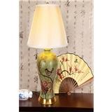 陶瓷台灯新中式美式欧式客厅别墅样板房复古花鸟系列大号全铜台灯