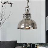 复古工业风创意个性金属灯罩餐厅吧台主题会所装修设计师铁艺吊灯