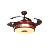 科佰实中式LED遥控吊扇灯静音隐形扇