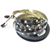 厂家供应APA102 5050RGB灯条 30灯/米 DC5V 白板/黑板 幻彩灯条