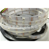 厂家供应APA102 5050RGB灯条 30灯/米 DC5V IP65/67白板/黑板 幻彩灯条