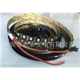 厂家供应APA102 5050RGB灯条 60灯/米 DC5V 白板/黑板 幻彩灯条 副本
