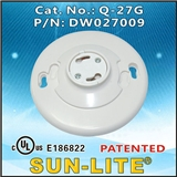 供应GU24 吸顶式塑胶灯座