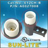 E12 插线式灯座, E12CH-B