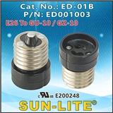 E26转GU-10(GZ-10)卤素灯座,ED-01B