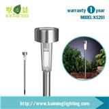 小型不锈钢太阳能草坪灯花园灯
