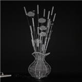 全手工铝线花瓶装饰家居灯 落地灯