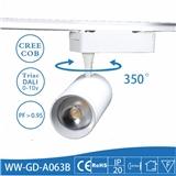 2017年 新款LED COB导轨射灯 30足瓦 美国普瑞LED芯片 达尔科大透镜 特价促销