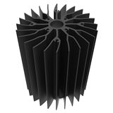 80~90w LED投光灯/轨道灯/射灯小直径小体积散热器