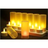 FL105仿真充电蜡烛灯塑料LED电子蜡烛装饰蜡烛灯led充电灯烛光灯小夜灯