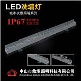 厂家供应18W独家私模IP67结构防水洗墙灯
