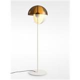 玻璃圆球装饰设计师黑色白色铁艺落地灯样板房卧室书房客厅样板间