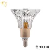 新款创意水晶LED灯泡喇叭花85~265V