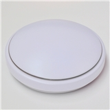 LED圆形吸顶灯批发高边银线亚克力全白灯罩 卧室走廊过道led灯具