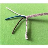 三芯铁氟龙铜网编织线 电线