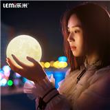 乐米月球灯3d打印充电卧室床头台灯触控月亮灯 创意浪漫生日礼物