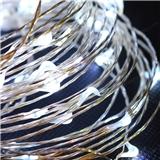 led铜线灯串裸灯串批发银线铜线灯10米100灯圣诞节日装饰彩灯