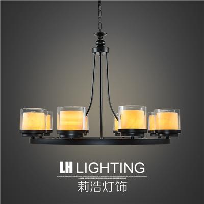 厂家直销美式欧式吊灯乡村田园复古创意个性铁艺客厅餐厅吊灯卧室