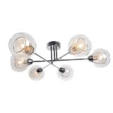 现代简约6头吊灯 创意个性玻璃灯罩客厅灯具 餐厅卧室设计师铁艺灯饰