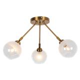 创意个性北欧风格全铜小吊灯简约现代几何餐厅吧台灯卧室床头灯具