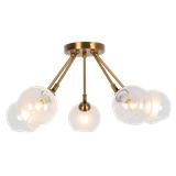 北欧后现代简约创意个性餐厅客厅店铺橱窗金属铁艺电镀玻璃球吊灯