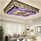 水晶灯客厅灯长方形简约现代个性创意家用大气led水晶吸顶灯灯具
