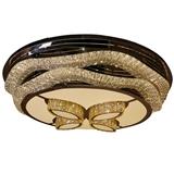 水晶灯圆形LED吸顶灯客厅灯简约现代大气家用卧室灯温馨餐厅灯具
