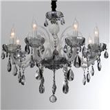 欧式水晶客厅8头别墅卧室餐厅蜡烛奢华大气家用玉石套餐组合吊灯