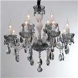 欧式水晶吊灯客厅餐厅卧室网红水晶灯简欧奢华法式蜡烛灯饰灯具
