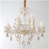 欧式吊灯客厅灯具现代简约蜡烛水晶灯简欧法式奢华大气卧室餐厅灯