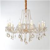 欧式吊灯客厅水晶灯家用温馨大气卧室餐厅蜡烛水晶吊灯LED灯具